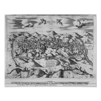 View of Jerusalem, 1570 ? Poster
