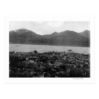 View of Juneau, Alaska and S.S. Burnside in Postcard