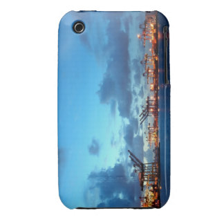 View of Kaohsiung Container Port at Evening Time iPhone 3 Cases