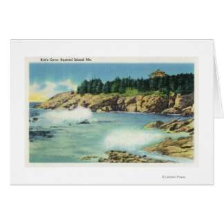 View of Kid's Cave at Squirrel Island Card