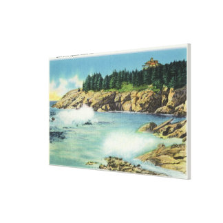 View of Kid's Cave at Squirrel Island Stretched Canvas Prints