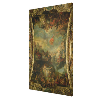 View of King Louis XIV  Governing Alone Canvas Print