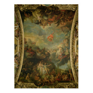 View of King Louis XIV  Governing Alone Postcard