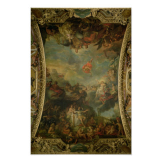 View of King Louis XIV  Governing Alone Poster