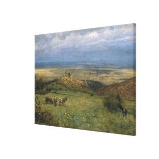 View of Kronberg in Taunus, Germany, 1879 Canvas Print