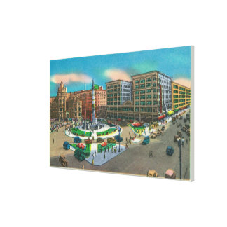 View of Lafayette Square and Main Street Canvas Print