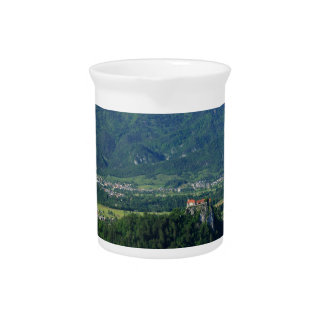 View of Lake Bled from Mala Osojnica Beverage Pitcher