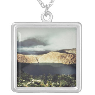 View of Lake Guatavita Silver Plated Necklace