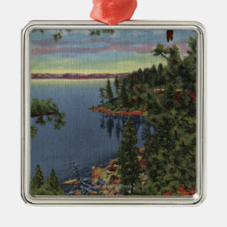 View of Lake through Sugar Pines Christmas Ornament