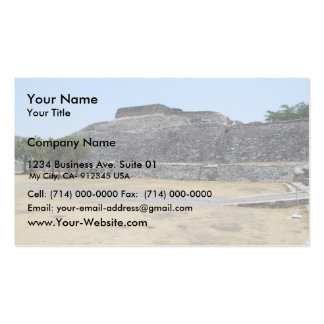 View Of Large Old Fort Business Card Template