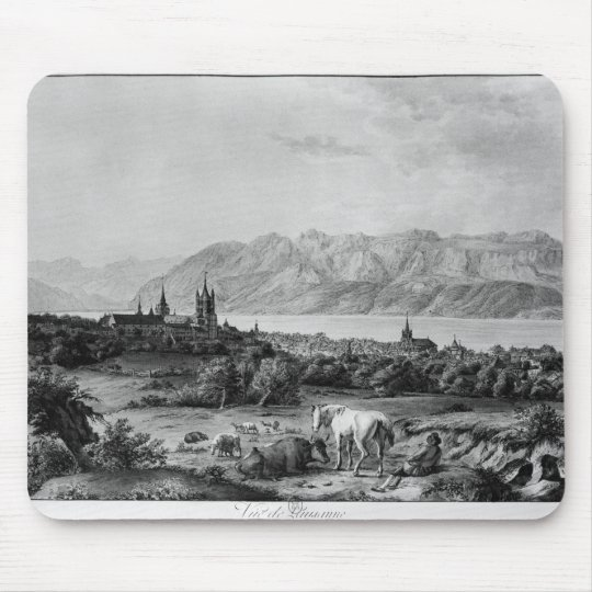 View of Lausanne Mouse Mat