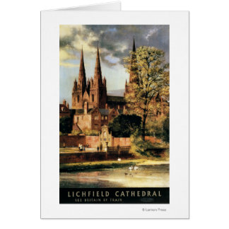 View of Lichfield Cathedral Card