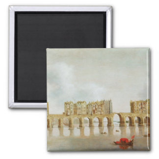 View of London Bridge, c.1632 (oil on panel) Square Magnet