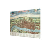 View of London, c.1560 Canvas Prints