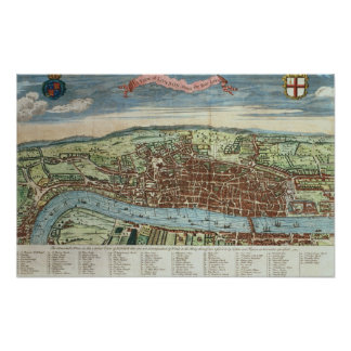 View of London, c.1560 Poster