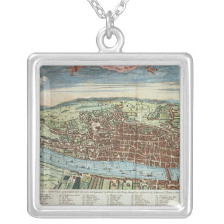 View of London, c.1560 Silver Plated Necklace