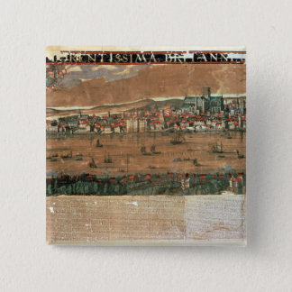 View of London with the Swan 15 Cm Square Badge