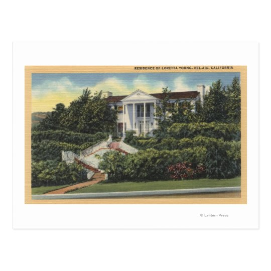 View of Loretta Young's Residence Postcard