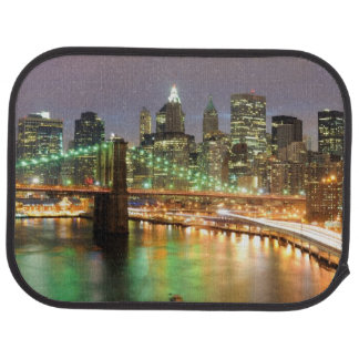 View of Lower Manhattan and the Brooklyn Bridge Car Mat