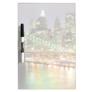 View of Lower Manhattan and the Brooklyn Bridge Dry Erase Boards