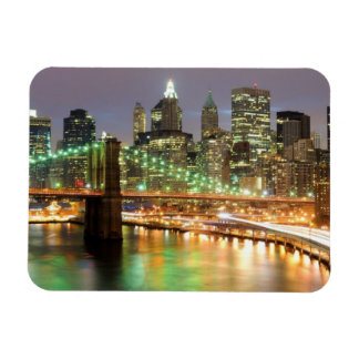 View of Lower Manhattan and the Brooklyn Bridge Rectangular Photo Magnet