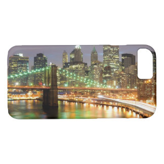 View of Lower Manhattan and the Brooklyn Bridge iPhone 8/7 Case