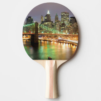 View of Lower Manhattan and the Brooklyn Bridge Ping Pong Paddle