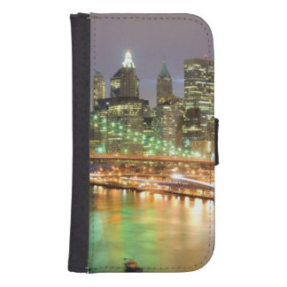 View of Lower Manhattan and the Brooklyn Bridge Samsung S4 Wallet Case