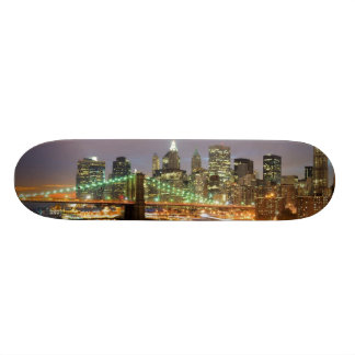 View of Lower Manhattan and the Brooklyn Bridge Skate Board Deck