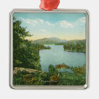 View of Lower Saranac Lake from Bluff Island Christmas Ornament
