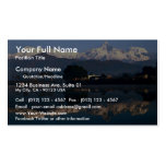 View of Macchapuchhre over Pokhara Lake, Pokhara, Double-Sided Standard Business Cards (Pack Of 100)