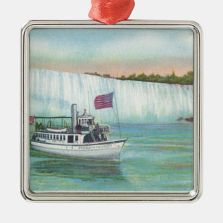 View of Maid of the Mist Boat Christmas Ornament
