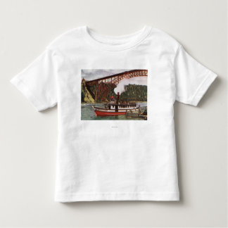 View of Maid of the Mist Boat Leaving Dock Toddler T-Shirt
