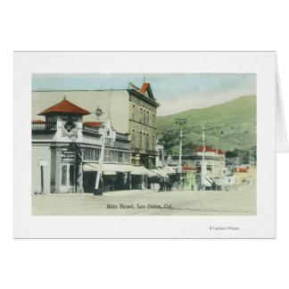 View of Main StreetLos Gatos, CA 2 Greeting Card