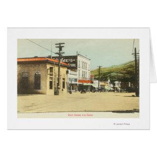 View of Main StreetLos Gatos, CA Greeting Card
