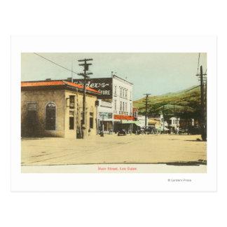 View of Main StreetLos Gatos, CA Postcard