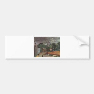 View of Malakoff Hauts de Seine by Henri Rousseau Bumper Sticker