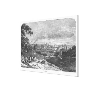 View of Manchester, engraved by T.Gustyne Canvas Print
