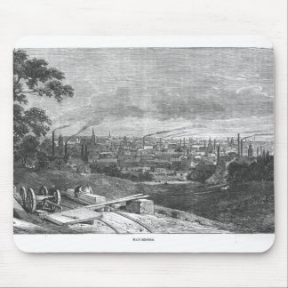 View of Manchester, engraved by T.Gustyne Mouse Mat