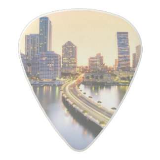 View of Mandarin Oriental Miami with reflection Acetal Guitar Pick