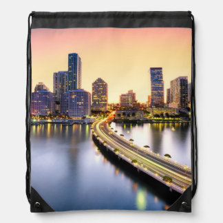 View of Mandarin Oriental Miami with reflection Drawstring Bag