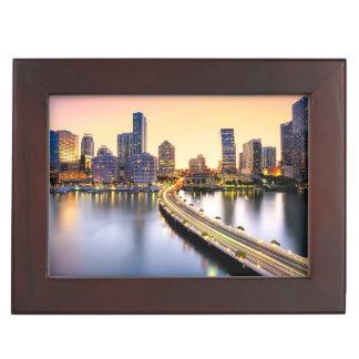 View of Mandarin Oriental Miami with reflection Keepsake Box