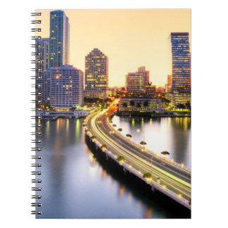 View of Mandarin Oriental Miami with reflection Notebook