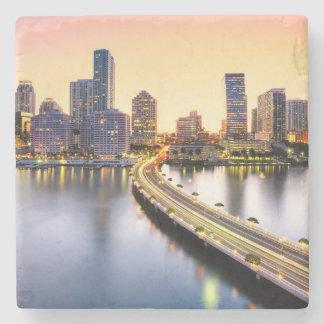 View of Mandarin Oriental Miami with reflection Stone Coaster