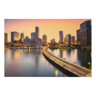 View of Mandarin Oriental Miami with reflection Wood Wall Decor