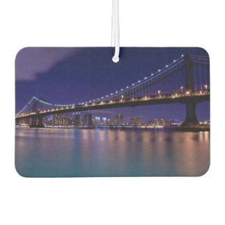 View of Manhattan bridge at night Car Air Freshener