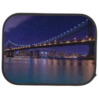 View of Manhattan bridge at night Car Mat