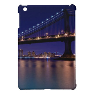 View of Manhattan bridge at night Cover For The iPad Mini