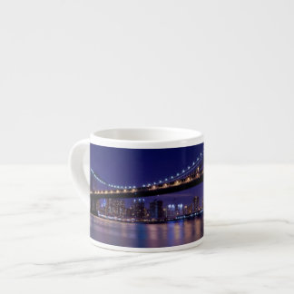 View of Manhattan bridge at night Espresso Cup