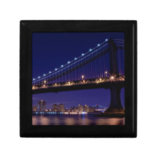 View of Manhattan bridge at night Gift Box
